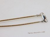 sc079 16inch gold color 925 Sterling silver chain use for pendant