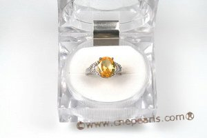 SZR001 Sterling Silver Oval Cubic Zirconia Ring