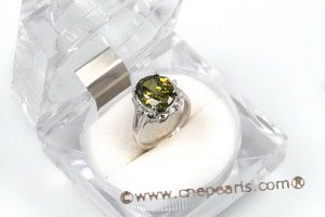 SZR010 925 sterling silver Oval CZ Ring