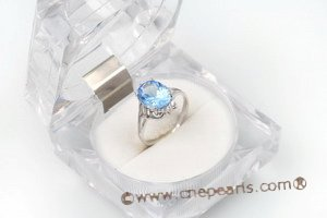SZR012 925 sterling silver Oval CZ Ring