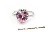 SZR013 Sterling Silver Love Pinky Cubic Zirconia Ring
