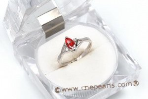 SZR015 Marquis Cut CZ Sterling Silver Ring