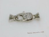 Snc147 Fashion 9*22mm Sterling Silver Lobster Clasp with Zircon Beads