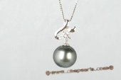 thpd070 black tahitian nature pearl pendant in 925 sterling silver