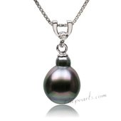 Thpd113 2014 Newest design 925Silver Baroque Black Tahitian pearl Pendant