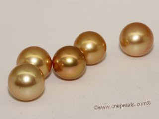 Yssp12-13mm Wholesale 12-13mm AAA grade south sea loose pearl in treatment  golden color