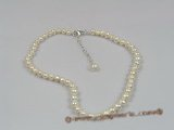 anklet006 white seed pearl anklet with adjustable sterling lobster clasp