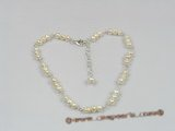 anklet008 white seed pearl anklet with adjustable sterling lobster clasp