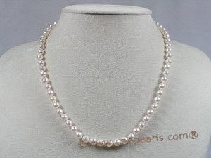 apnset002 AAA+ Quality 16 Inch Round 5.5-6mm White Akoya SaltWater Pearl Necklace