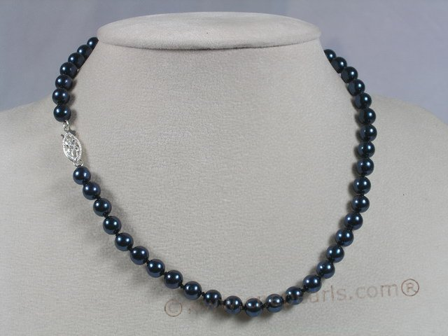 inches length black akoya pearl necklace