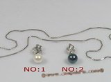 app008 Sterling silver 7-7.5mm saltwater pearl pendant,different color