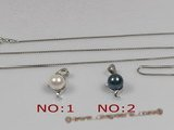 app009 Sterling silver 7-7.5mm saltwater pearl pendant,different color
