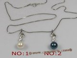 app012 Sterling silver 7-7.5mm saltwater pearl pendant,different color