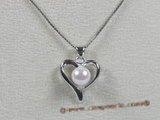 app018 peach design white 6-6.5mm akoya pearl sterling pendant