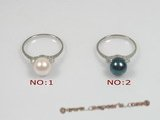 apr003 sterling silver 7.5-8mm cultured akoya pearl ring,US SIZE 7