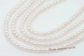 aps5.5-6aa1 5.5-6mm AA+ White Cultured Akoya Pearl strands 16-inch in length