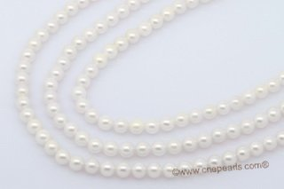 aps5.5-6aaa 5.5-6mm AAA White Cultured Akoya Pearl strands 16-inch in length