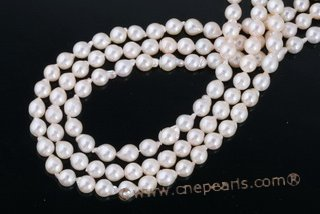 Baap6-6.5 Wholesale 6-6.5mm Closeout baroque Akoya Pearl strands in Bag