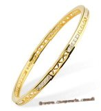 babr002 Queen Rhinestone 14K Gold Plated cuff /Bangle Bracelet
