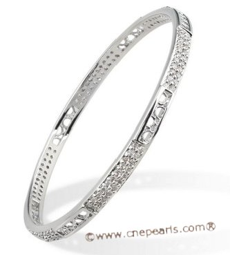 babr003 Ritzy Rhinestone Rhodium Plated Bangle/Bracelet on sale