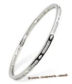 babr005 Rhodium Plated cuff bangle bracelet  with CZ&#39s
