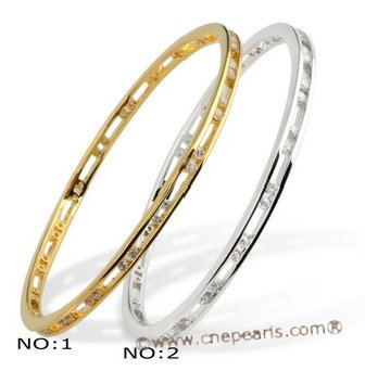 babr008 wholesale sparkling Rhinestone 14K yellow gold plating cuff Bangle