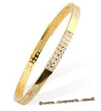 babr010 Fashion Gold Plated Bangle/Bracelet inlayed with CZ&#39s
