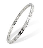 babr021 Trendy Designer Rhodium Plated Bangle with CZ&#39s