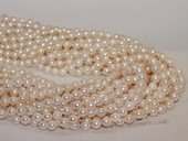 bakp001 6-6.5mm Nature Color baroque Akoya Pearl strands