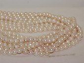 bakp002 6.5-7mm Nature Color baroque Akoya Pearl strands