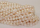 bakp003 7.5-8mm  Nature Color baroque Akoya Pearl strands