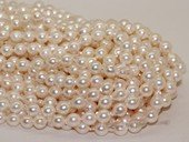 bakp004 7-7.5mm Nature Color baroque Akoya Pearl strands