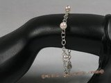 bapb001 7-7.5mm AAA+ white round salt water pearl bracelet