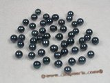 bapl6-6.5aa Black 6-6.5mm AA Grade round chinese akoya loose pearls