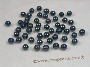 bapl7-7.5aa Black 7-7.5mm AA Grade round chinese akoya loose pearls