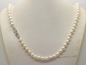 bapn006 Baroque saltwater cultured pearl single necklace