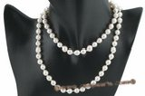 bapn013 Good quality 7.5-8mm Baroque Akoya pearl Matinee necklace