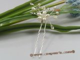 hcj009 Fresh Water Pearl & crystal wedding Hair Pins
