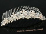hcj010 wholesale crystal and pearl Bridal Comb jewelry