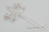 bcj053 Hand-crafted Side & Back bridal Comb with sparking Rhinestones
