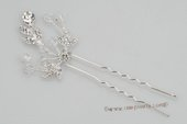 bcj054 Stunning Floral Vine Hair Pin with Sparkle Rhinestone& Crystal
