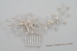 bcj063 Hand-crafted Side & Back bridal Comb with  sparking Rhinestones