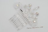 bcj065 Beatiful  Rhinestones Side & Back bridal Comb