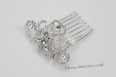 bcj077 Graceful Side & Back bridal Comb with sparking Rhinestones