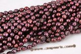 blister039 Dark Purple 11-13mm Freshwater Baroque Pearl Strand