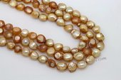 blister040 11-13mm Golden Freshwater Baroque Blister Pearl Strand