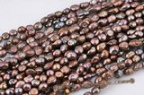 blister048 Dark Brown Freshwater Baroque Blister Pearl,11-13mm
