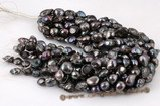blister052 11-13mm Dark Black Freshwater Baroque Pearl at discount price