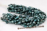 blister055 Wholesale 11-13mm Dark Blue Freshwater Baroque Pearl Beads
