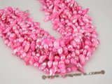 blister1003 wholesale hot pink 6-7mm freshwater blister pearl in five strand